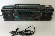 Vintage 1980's Emerson Dual Cassette Recorder 4 Speker System Boom Box! Tested