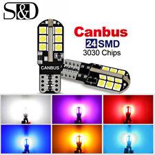 T10 501 194 W5W 3030 24-SMD LED Car CANBUS Error Free Wedge Light 168 2825 Bulb