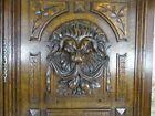 French Antique Deep Carved Panel Door Lion Head Oak Wood   N 1