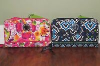 NWT Vera Bradley CLEMENTINE or INK BLUE Retired Large Full-Size TURN LOCK WALLET