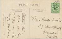 GB MOSELEY / BIRMINGHAM nice Christmas Greetings postcard, not complete strike