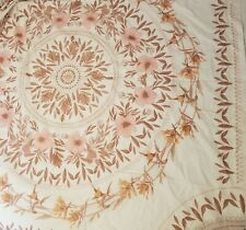 Urban Outfitters Home Shower Curtain Sketched Floral Medallion Rust Red Orange