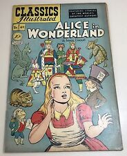 1948 CLASSICS ILLUSTRATED NO 49 ALICE IN WONDERLAND BY LEWIS CARROLL COMIC BOOK