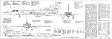 PLS-100103 1/100 Tupolev Tu-22M3 Backfire Full Size Scale Plans (two A1 pages)