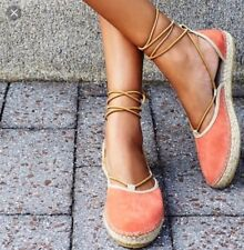 New! Free People MARINA Lace Up Espadrille Suede Wedge Flats 41 10 Suede Espadrille ... 5f317e
