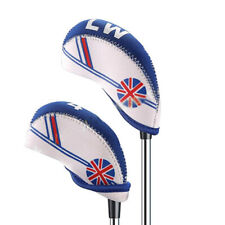 10pcs/Set Golf UK Flag Style Printed Mixcolor Protection Iron Clubs Headcover