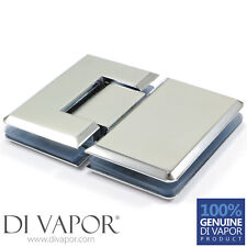 Di Vapor (R) 180 Degree Glass to Glass Shower Door Hinge | Chrome Plated | UK