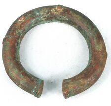Art Africain - Ancien Bracelet Monnaie Bronze Akan - Patine Vert de Gris - 1 Kg
