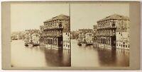 Italia, Venezia, Palais Corner, Foto PL27L3n Stereo Vintage Albumina c1860