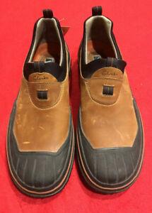 Clarks Mens Waterproof Slip on Clog Shoes Leather 32429 US 9 UK 8.5 EU 43 NWT