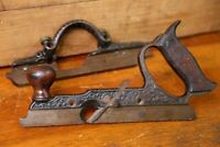 Antique Plow Combination Plane Woodworking tool Pat. 1873 Cast Iron wood handle