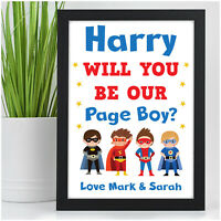 Personalised SUPERHERO Will You Be Our Page Boy Usher Ring Security Bearer Gifts