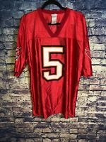 Josh Freeman #5 NFL Team Apparel Tampa Bay Buccaneers Jersey Mens RED Size XL