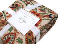 Pottery Barn Duvet Cover Full Queen Linen Cotton Roses