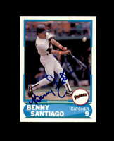 Benny Santiago Signed 1988 Score Young Superstars San Diego Padres Autograph