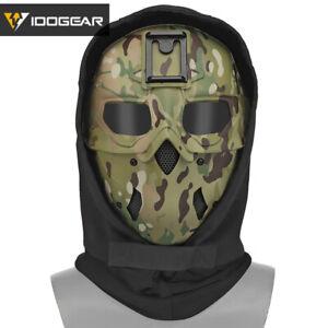 IDOGEAR Tactical Ful Gesichtsmaske Airsoft Schutzmaske Kapuze Kopfbedeckung Camo