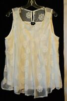 NWT Torrid Women's Ivory Cream Lace Tank Top Plus size 1X 2X 3X 4X 5X