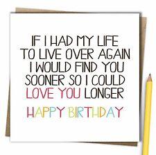 Husband Wife Boyfriend Girlfriend Partner One I Love Birthday Card
