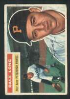 1956 Topps #56 Dale Long GVG Pirates 83147