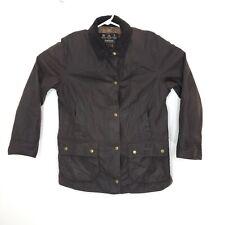 Barbour Womens 10 Waxed Jacket Tartan Hr23