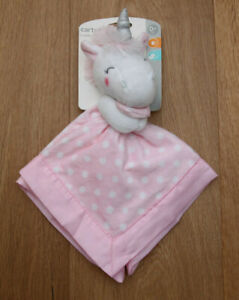 Carter's Baby Girl Security Blanket ~ Unicorn ~ Pink & White ~