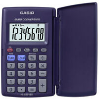 Casio HS-8VER calculator with euro conversion and folding case cover