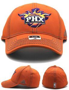 Phoenix Suns Adidas New NBA PHX Orange Gray Piped Flex Fit Era Fitted Hat Cap