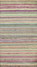 Striped Contemporary Gabbeh Kashkoli Oriental Area Rug Handmade Wool Carpet 6x8