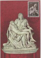 AK FDC Maximum card VATICAN 1964 MICHELANDGELO  1295 PIETA Sculpture