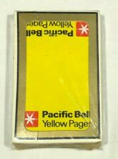 Vintage Pacific Bell Yellow Pages Bridge Size Deck of Playing Cards (Sealed/New)