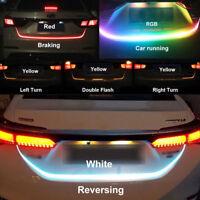 "47"" 12V RGB LED Strip Lights Car Trunk Rear Tail Light Brake Turn Signal Flow"
