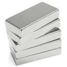 N52 Super Strong Block Cuboid Cube Magnet 50 x 25 x 10mm Rare Earth Neodymium