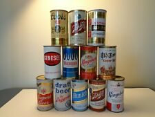 12 DIFFERENT FLAT TOP CANS