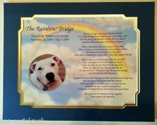 Personalized Memorial Poem The Rainbow Bridge For Loss of Pet w/ Dual Mat Border