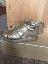 Girls michael kors gold trainers size 3