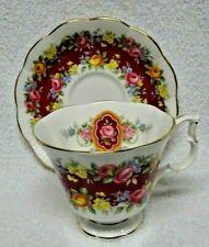 Royal Albert  Garland Series Elegance Fushia Band Cup And Saucer