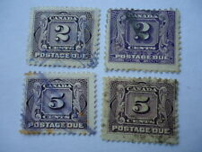 Canada 1930-2 SGD10,12  2c,5c bright violet two used copies of each Postage due