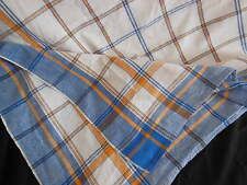 Superbe nappe rectangulaire à carreaux, linge ancien