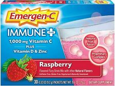 Emergen-C Immune Plus Raspberry Vitamin C +D & Zinc 30 packet Emergency 03/22