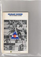 1981 82 Colorado Rockies Yearbook/Media Guide Don Cherry Beck Lanny McDonald