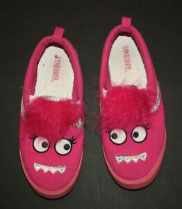 Used Gymboree Girls 3 Girl Youth Shoes Pink Monster Sneakers Halloween Fun