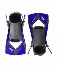 Aqua Sphere Zip VX Fitness Swim Fins, Blue/Grey, Small (4-7)