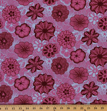 Cotton Anna Maria Horner Reliquary Floral Pink Cotton Fabric Print BTY D302.19
