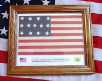 13 Star American Flag, Revolutionary War Flag of Fort Independence, Boston, 1791