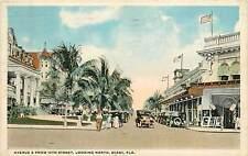 Florida, FL, Miami, Avenue B fr 12th St Looking North 1920 Postcard