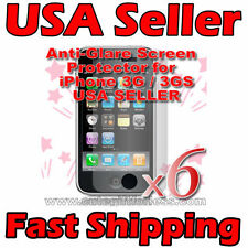 6 X Apple iPhone 3G S 3GS Anti Glare Screen Protectors
