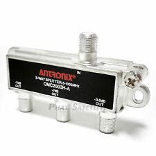 2pc Antronix 3 way Digital TV Video Signal Coaxial Splitter 3-output 1002MHz