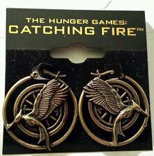 NEW Hunger Games NECA Catching Fire Mockingjay Earrings Katniss Licensed Hoop