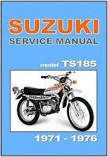 SUZUKI Service Manual TS185 Sierra 1971 1972 1973 1974 1975 1976 Service Repair