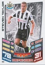 N°151 STEVEN TAYLOR NEWCASTLE UNITED TRADING CARD MATCH ATTAX TOPPS 2013